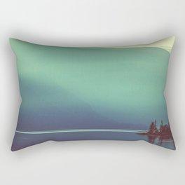 Summer at the Lake Turquoise Rectangular Pillow