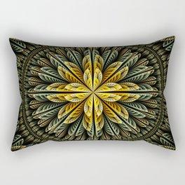 Autumn fantasy flower and petals Rectangular Pillow