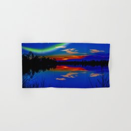 North light over a lake Hand & Bath Towel