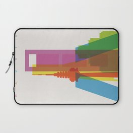 Shapes of Madrid. Accurate to scale. Laptop Sleeve