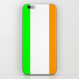 flag of ireland 5 -ireland,eire,airlann,irish,gaelic,eriu,celtic,dublin,belfast,joyce,beckett iPhone Skin