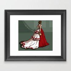 Red Gown Framed Art Print