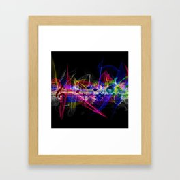 Colorful musical notes and scales artwork Framed Art Print