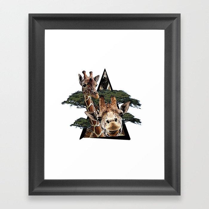 Giraffe Jungle ArtWork Framed Art Print