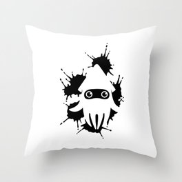 Blooper Ink Stain Throw Pillow