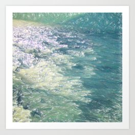 Sea Painting Maravellous Effect with brushes Art Print