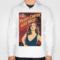 peggy carter Hoodies featuring Peggy Carter Goes West by Arne AKA Ratscape