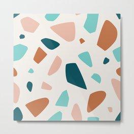 Lovely and Elegant Terrazzo Mosaic Metal Print