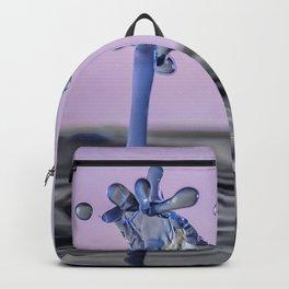 Blue water flower waterdrop Backpack