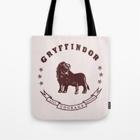 gryffindor Tote Bags featuring Gryffindor House by Shelby Ticsay