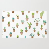 cacti Area & Throw Rugs featuring Cacti by Yardia