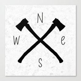 compass & axes Canvas Print
