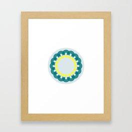 neon kaleidoscope Framed Art Print