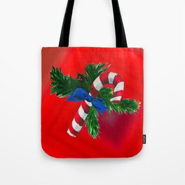 Christmas Candy Cane Tote Bag