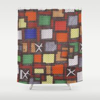 knit Shower Curtains featuring knit by colli1 3designs