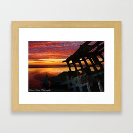 Peter Iredale Shipwreck Framed Art Print