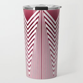 Art Deco Pink Arrowhead Pattern Travel Mug