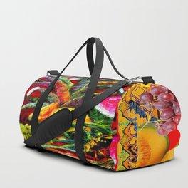 RED HARVEST STILL LIFE  FRUIT ART Duffle Bag