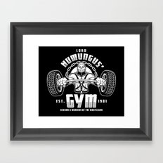 Lord Humungus' Gym Framed Art Print
