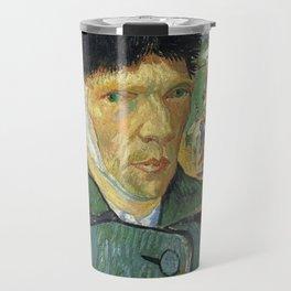 Self Portrait With Bandaged Ear Vincent van Gogh Travel Mug