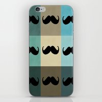 moustache iPhone & iPod Skins featuring Moustache by Zetanueta
