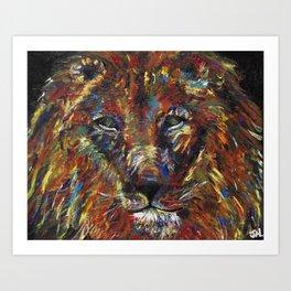 Sake Lion Art Print