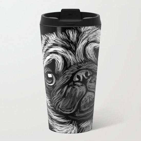 Pug Metal Travel Mug