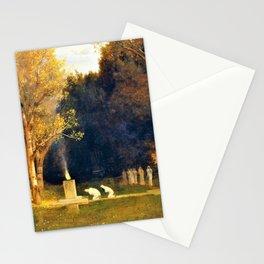 12,000pixel-500dpi - Sacred Grove - Arnold Bocklin Stationery Cards