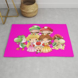 Pink Plumber's collection Rug