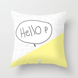 Hello :p Throw Pillow