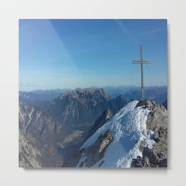mountain with snow on top Metal Print