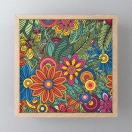 Summer flowers Framed Mini Art Print