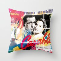 casablanca Throw Pillows featuring Casablanca by Paky Gagliano