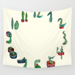 Clock Cactus Wall Tapestry