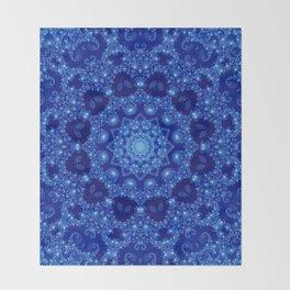 Ocean of Light Mandala Throw Blanket