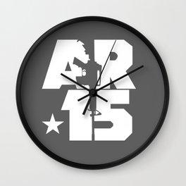 AR-15 (Gunmetal/White) Wall Clock