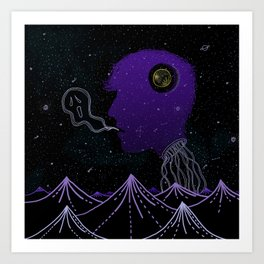 Strange Creatures Art Print