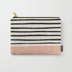 Peach x Stripes Carry-All Pouch
