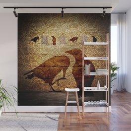 Huginn & Muninn on the wall Wall Mural