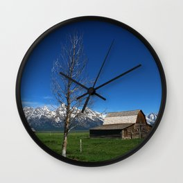 At The Mormon Row Wall Clock