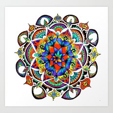 Mandala Bloom Art Print