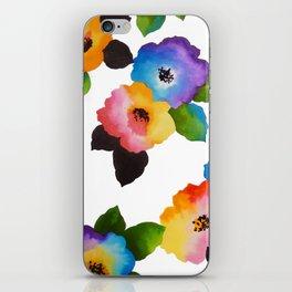 Watercolor Floral Multi iPhone Skin