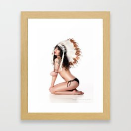 Jenny in Headdress Framed Art Print