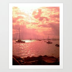 Red Lake Art Print