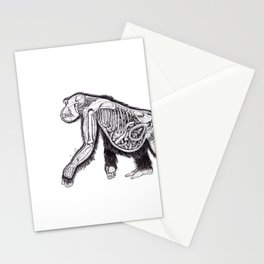 The Anatomy of a Pregnant Gorilla Stationery Cards