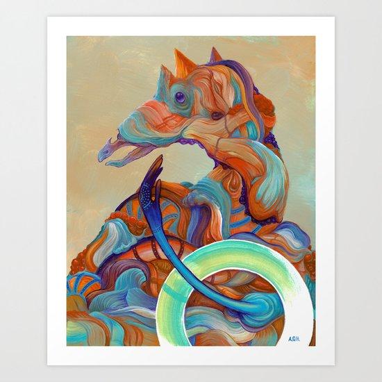 The ambassador of light Art Print