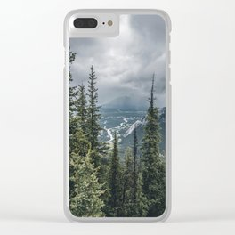 Landscape | View of Banff | Mountain Top Clear iPhone Case