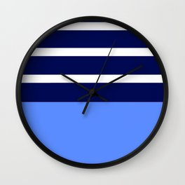 Summer Patio Perfect, Blue, White & Navy Wall Clock