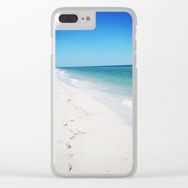 White Sands Sun Tans Clear iPhone Case