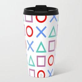 Gamer Pattern Color on White Travel Mug